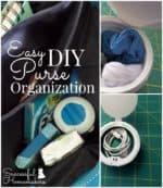 Easy DIY Purse Organization