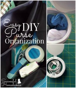 Easy DIY Purse Organization