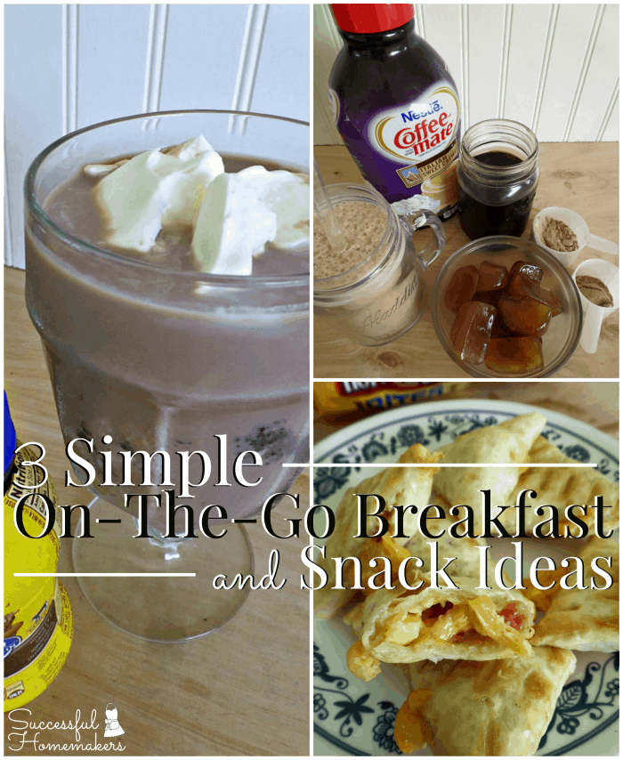 3 Simple On-The-Go Breakfast and Snack Ideas ~ Successful Homemakers