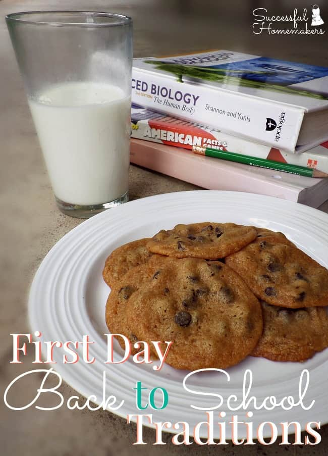 First Day Back to School Traditions ~ Successful Homemakers