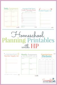 Homeschool Planning Printables with HP