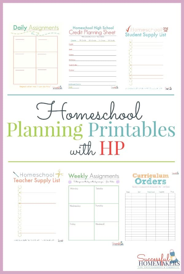 image relating to Printable Homeschool Planners identified as Homeschool Developing Printables with HP