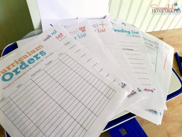 Homeschool Planning Printables with HP ~ Successful Homemakers