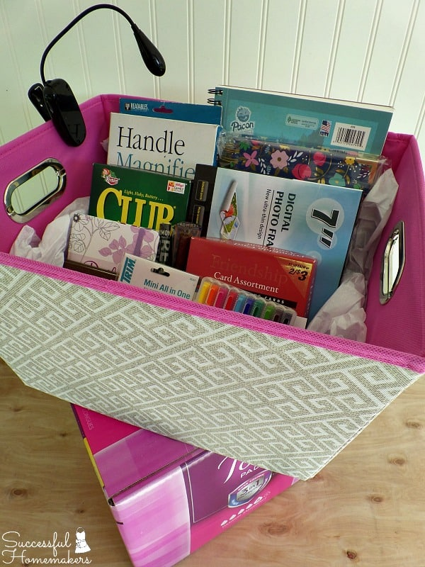 Gift Basket Ideas for a Homebound Friend ~ Successful Homemakers