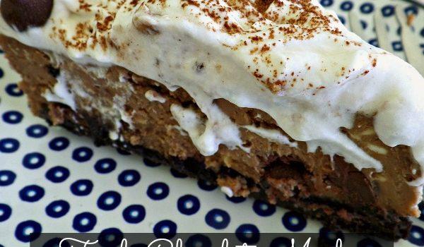 Triple Chocolate Mocha Cheesecake with Caramel Macchiato Whipped Cream