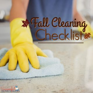 Fall Cleaning Checklist ~ Successful Homemakers