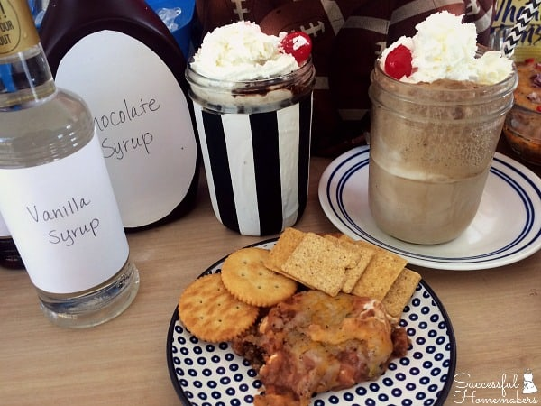 Soda Bar and Taco Dip- Game Day Greats ~ Successful Homemakers