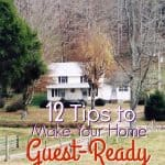 12 Tips to Make Your Home Guest-Ready ~ Successful Homemakers Holiday travel season is upon us! Use these 15 tips to make your home guest ready and make them feel completely comfortable!