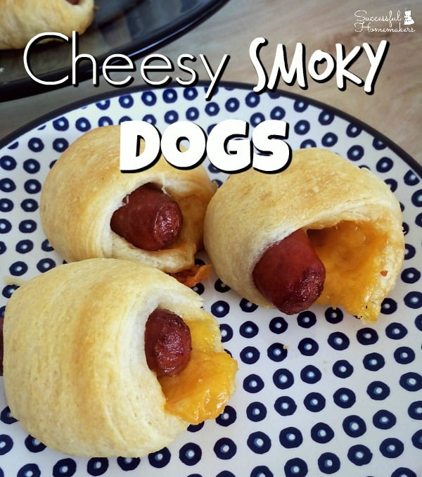 Enjoy Your Holiday Party With Prep-Ahead Foods ~ Successful Homemakers Cheesy Smoky Dogs are a simple addition to your next party menu!