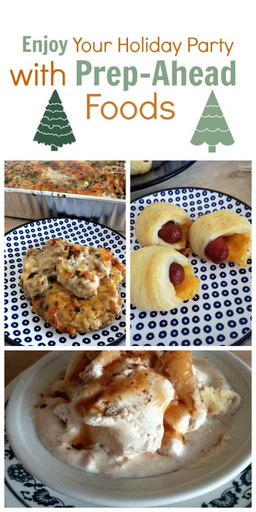 Prep-ahead foods make entertaining a breeze. You'll enjoy your party and have time to be with your guests with these prep-ahead party foods! Enjoy Your Holiday Party With Prep-Ahead Foods ~ Successful Homemakers