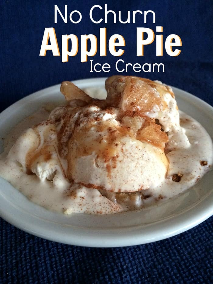 No Churn Apple Pie Ice Cream- 6 ingredients and a little time is all it takes to make YUMMY ice cream! Enjoy Your Holiday Party With Prep-Ahead Foods ~ Successful Homemakers