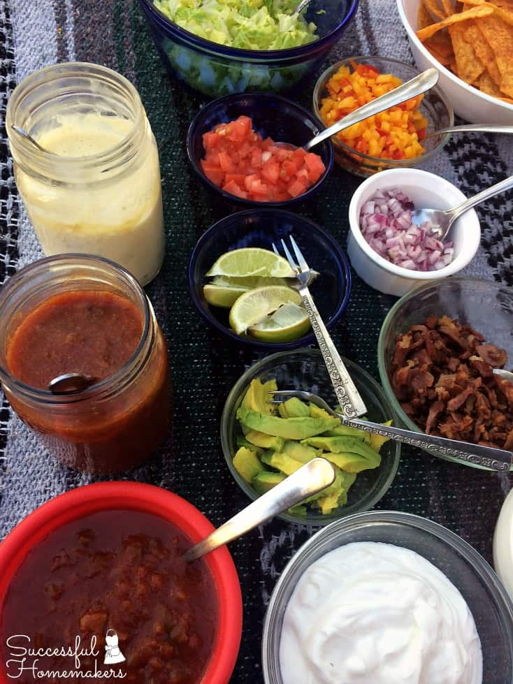 Hearty Beef & Bean Chili Bar ~ Successful Homemakers