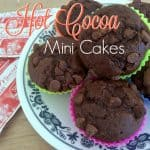 Triple Chocolate Hot Cocoa Mini Cakes ~ Successful Homemakers Packed with chocolate, these mini cakes are perfect for holiday treats, after supper dessert, or just because!