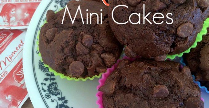 Triple Chocolate Hot Cocoa Mini Cakes