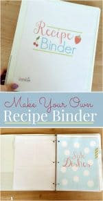 Make Your Own Recipe Binder