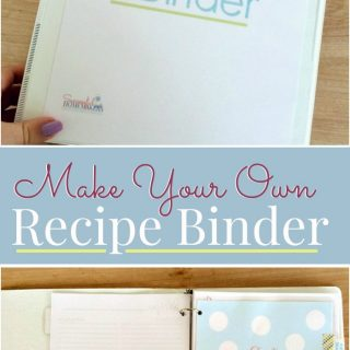 Make Your Own Recipe Binder with this free printable pack. Organize all of those loose recipes so that they are easy to find. This is a perfect craft to create with your teen!