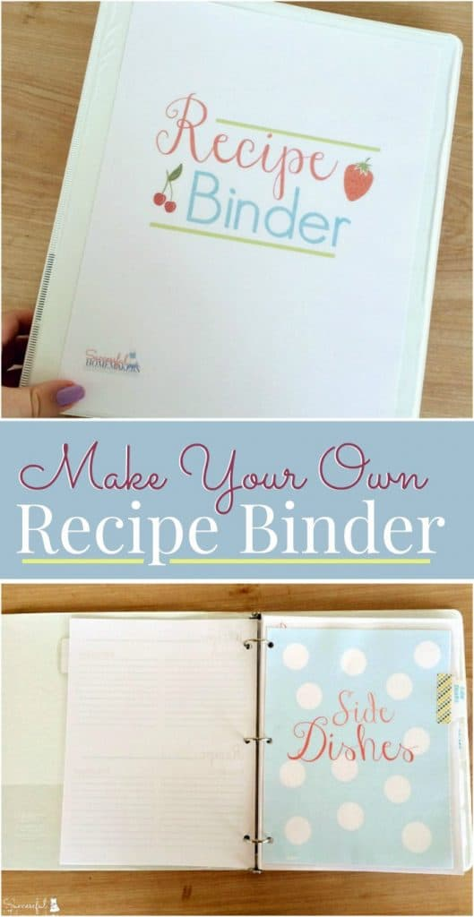 Make Your Own Recipe Binder with this free 15 page printable pack. Organize all of your recipes and have a place to keep those treasured handwritten recipes in one place. This is a great project to create with your teen!