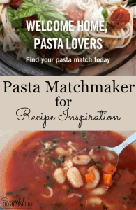 Pasta Matchmaker for Recipe Inspiration
