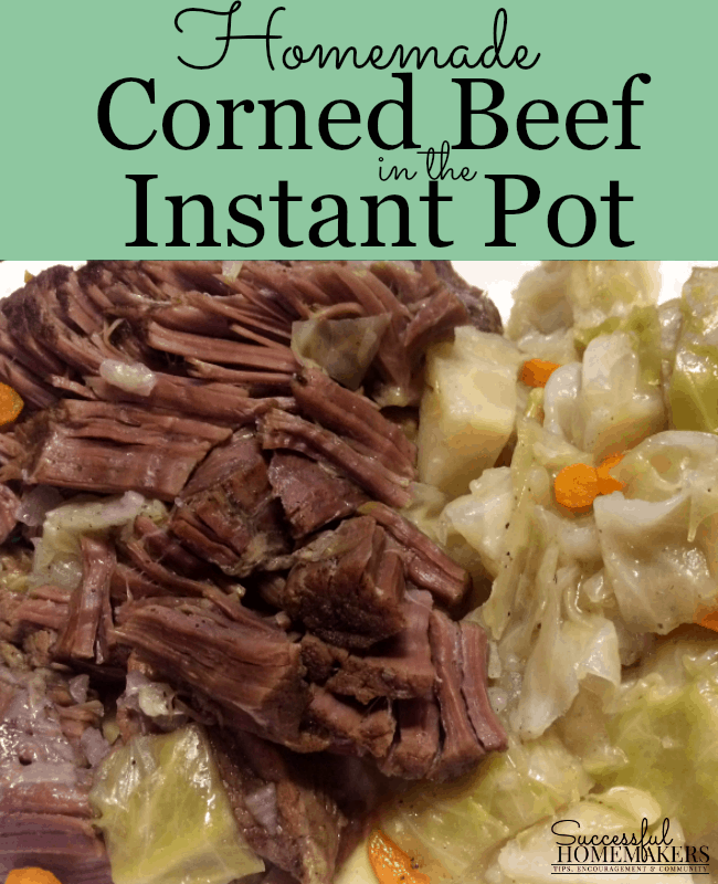 Homemade Corned Beef in the Instant Pot is easier than you think! Brining your beef in a simple brine solution for 10 days, then cook in the Instant Pot!