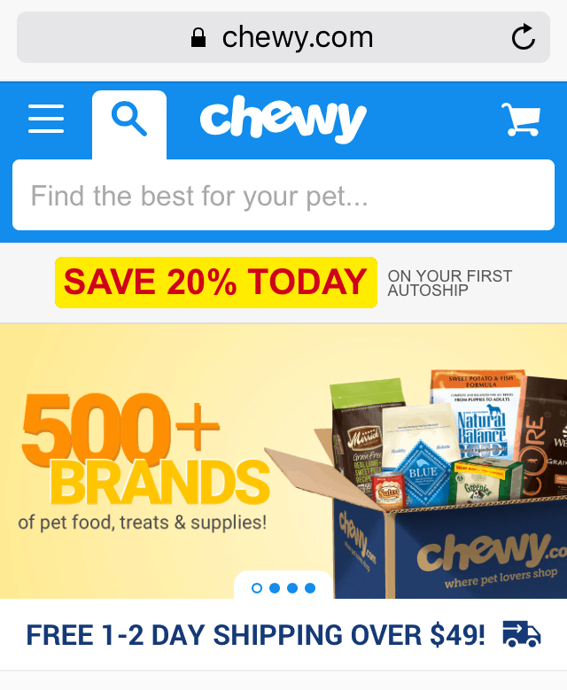 Chewy pet coupons