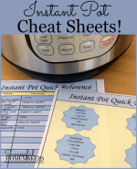 2 Free Instant Pot Cheat Sheets