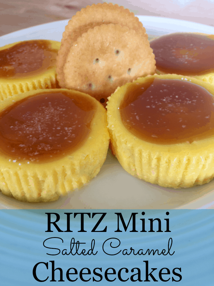 RITZ Mini Salted Caramel Cheesecakes are simple to make, the perfect combination of sweet and salty!