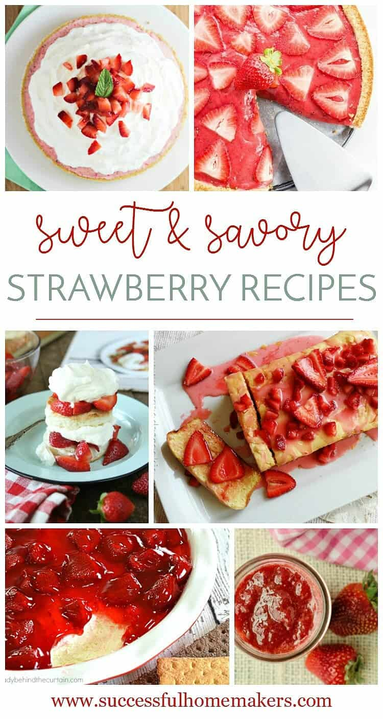 Sweet and Savory Strawberry recipes Take advantage of this delicious fruit with these yummy recipes!