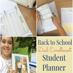 Back to School Dual Enrollment Student Planner- free 20 page printable packet for dual enrolled and college students!