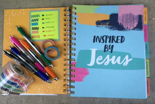 Take Charge of Your Days with the Illustrated Faith Planner. Use color-coded washi tape and pens to organize your days!