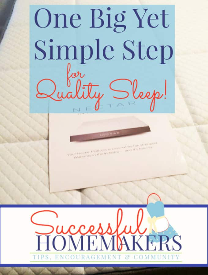One Big But Simple Step for Quality Sleep -- Quality sleep is so crucial to our health and wellness. A quality mattress goes a long way to ensuring quality sleep!