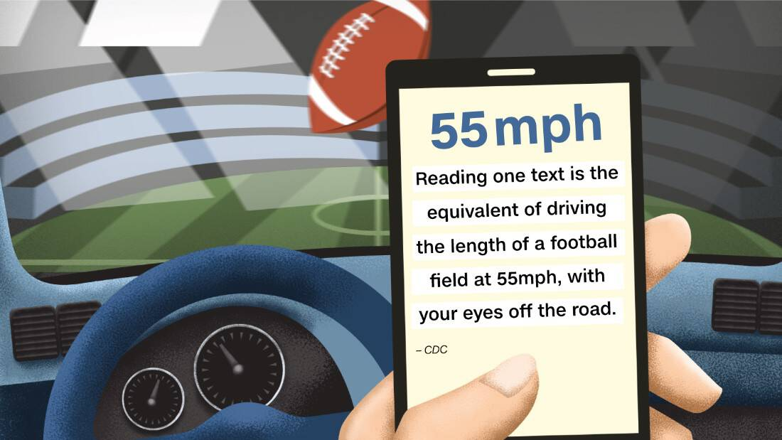 distracted driving infographic from https://www.cnn.com/2016/09/02/health/gallery/distracted-driving-statistics/index.html