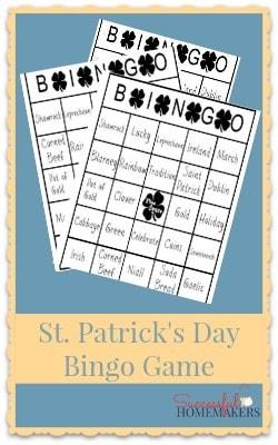 St Patrick's Day Bingo Game