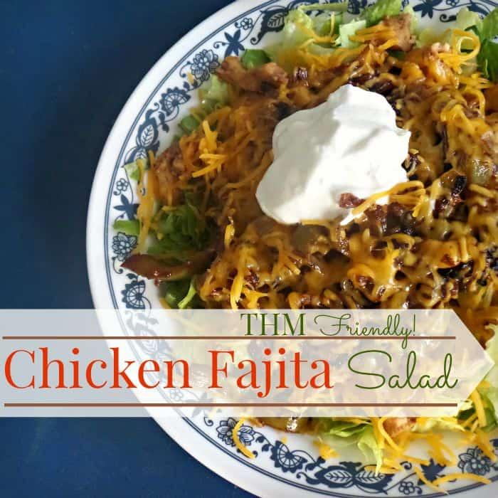 Chicken Fajita Salad- THM Friendly