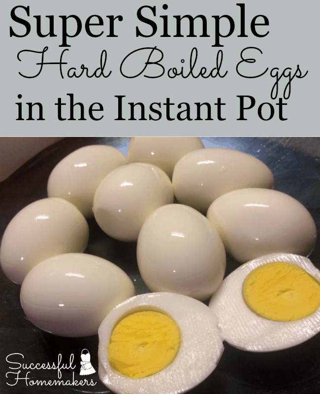 Super Simple Hard Boiled Eggs in the Instant Pot