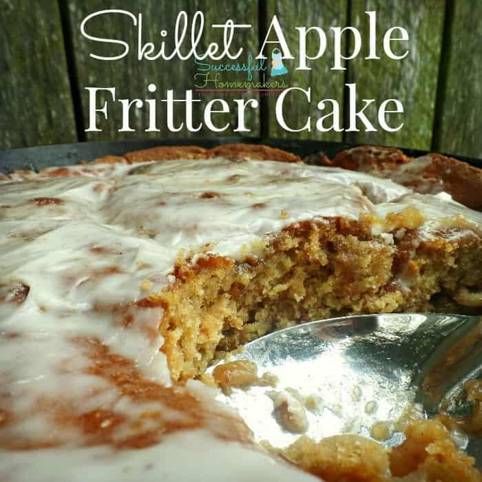 Skillet Apple Fritter Cake