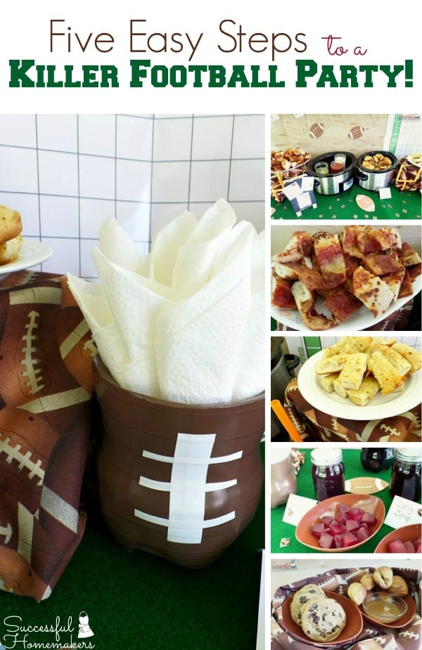 5 easy steps to a killer football party