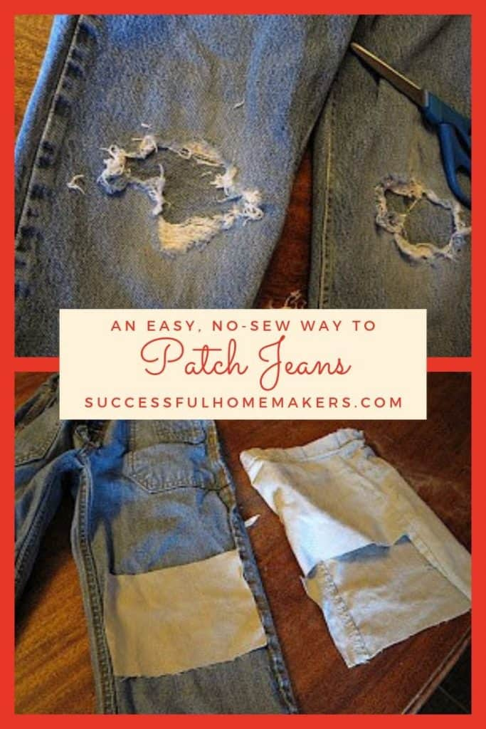 AN EASY NO SEW WAY TO PATCH JEANS
