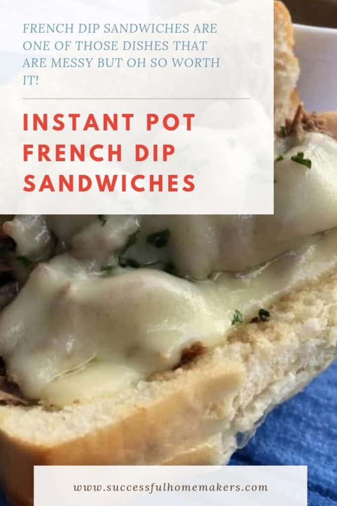 Instant Pot French Dip Sandwiches- try this easy-to-make recipe that is sure to please!