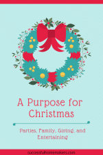 A Purpose for Christmas: Parties, Family, Giving, Entertaining