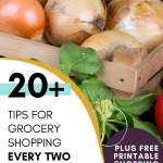 20+ TIPS FOR GROCERY SHOPPING EVERY TWO WEEKS plus free printable shopping list