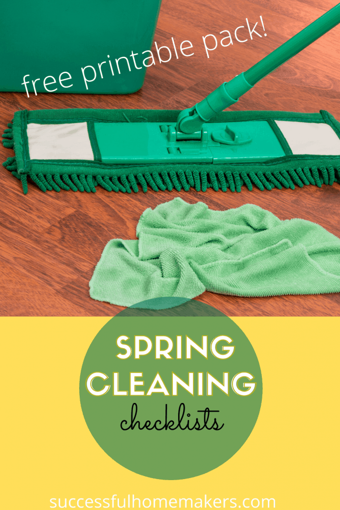 Spring cleaning checklists free printable pack