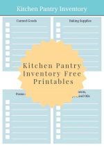 Kitchen Pantry Inventory {FREE Printable}